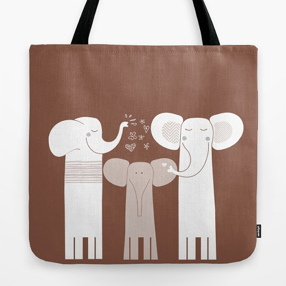 Tote bags with cute animals