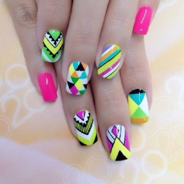 Abstract nail designs