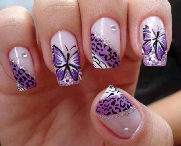 Pretty butterfly nail art