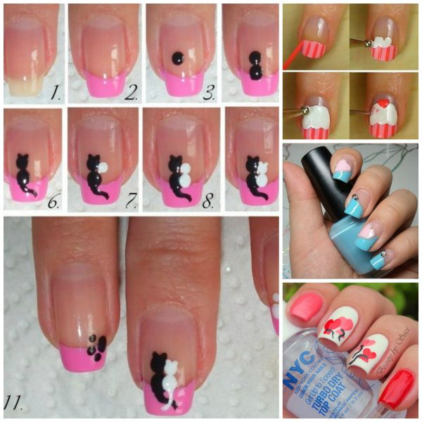 Cute animals nail art how to