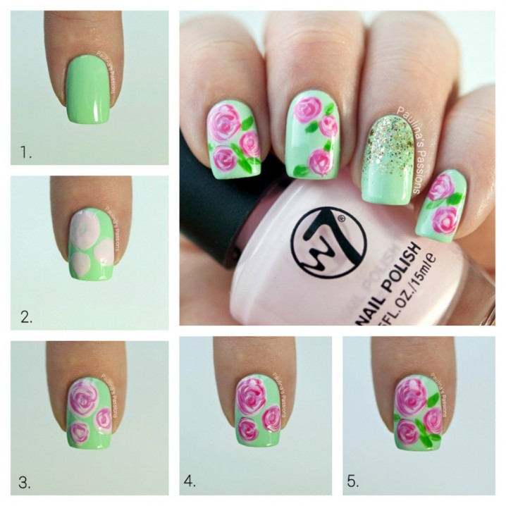 Flower nail art how to