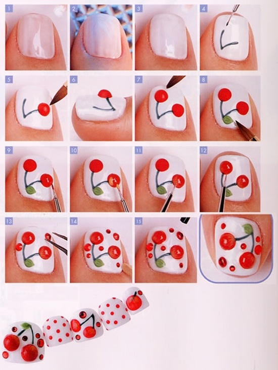 Fruit nail art how to