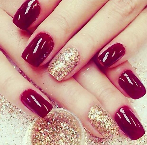 More glitter nail art
