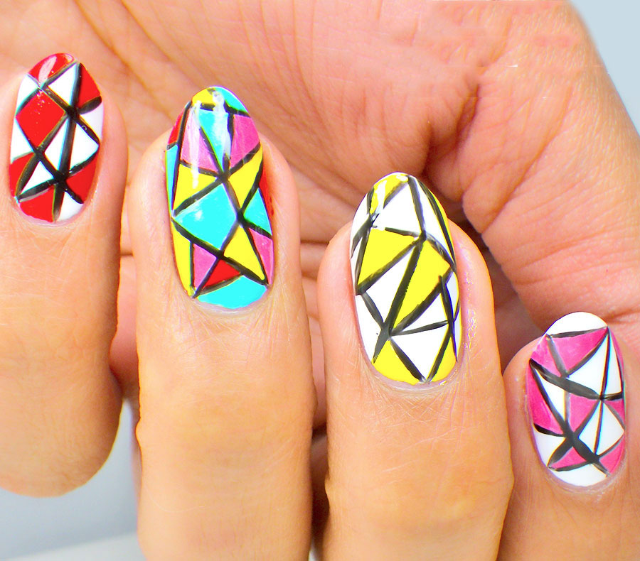 Mosaic nail art designs
