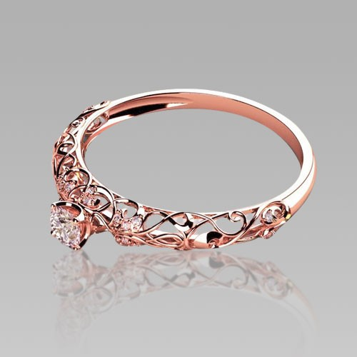 Intricate rose gold ring design