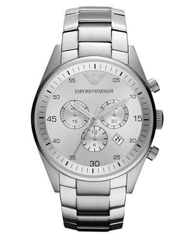 Contemporary silver watch