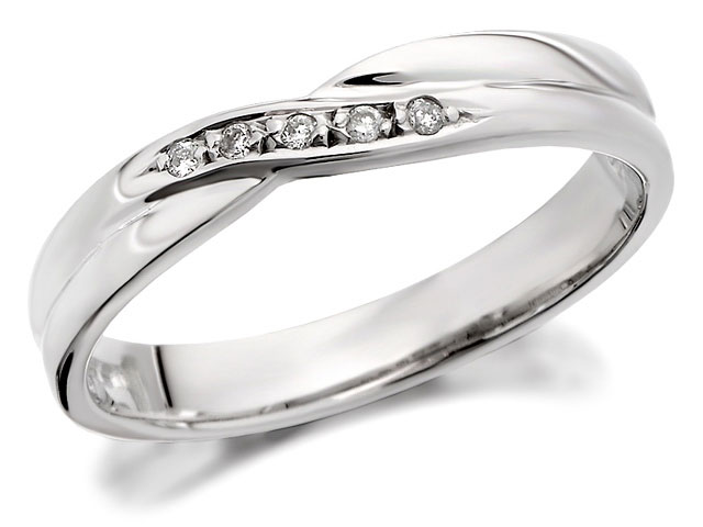 White gold bridal wedding ring