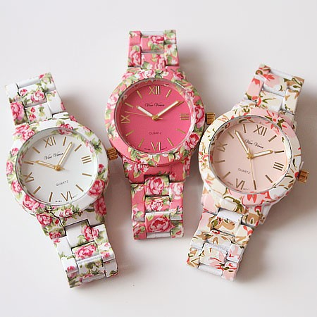 Floral print watches