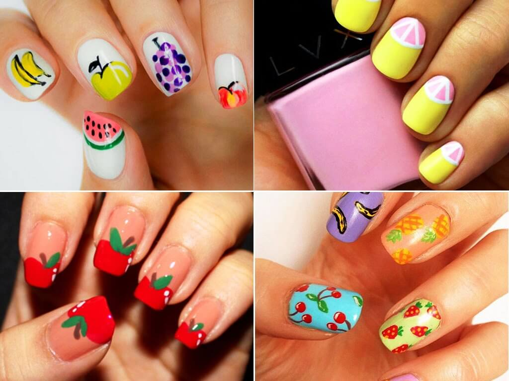 Fruits nail art designs