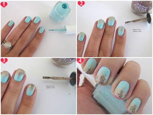 Glitter nail art how to