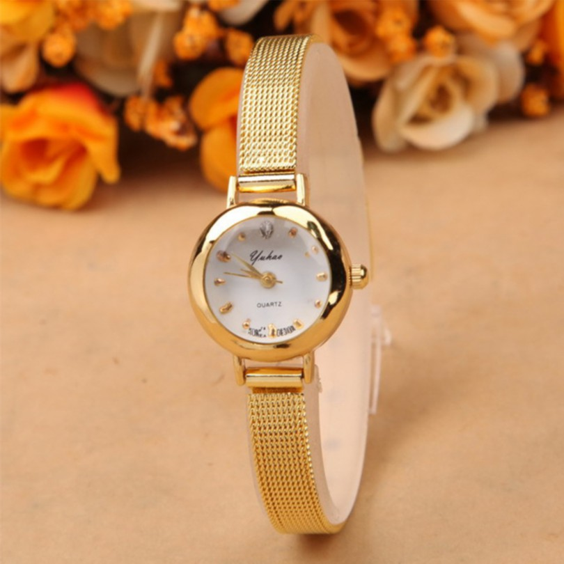 Golden color watch