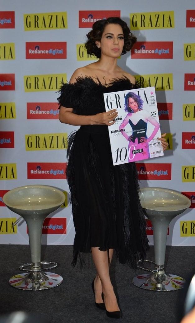 Kangana launches Grazia Magazine 100th Issue