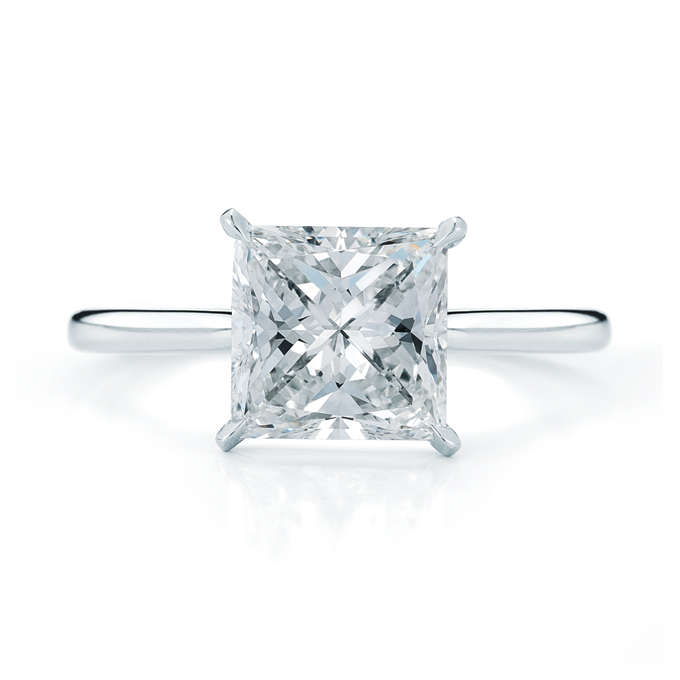 A lovely princess cut wedding ring