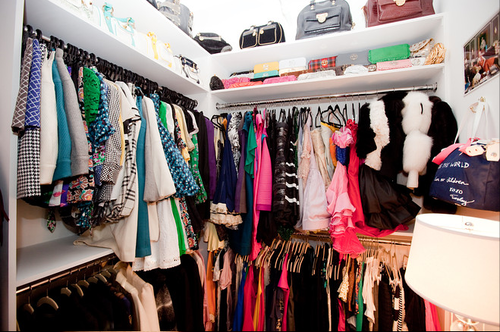 colorful closet