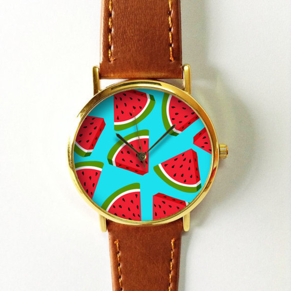 Watch with fruit print