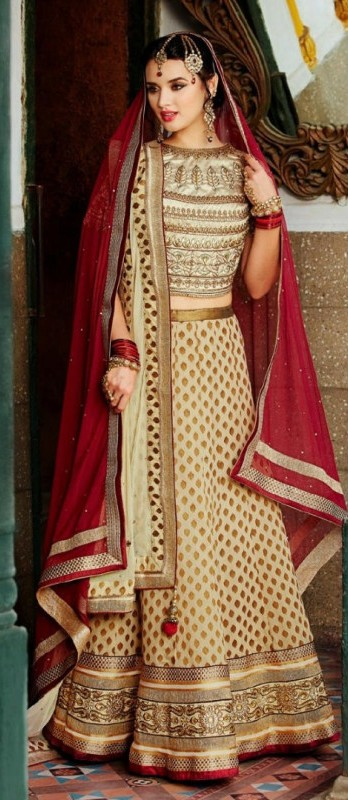 The Model in Bundhgala Lehenga Design.