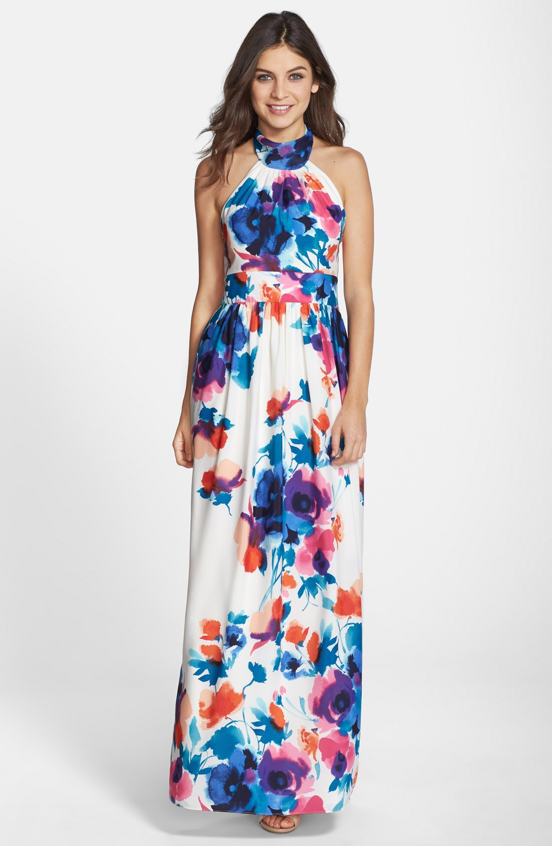 Another halter-neck maxi dress