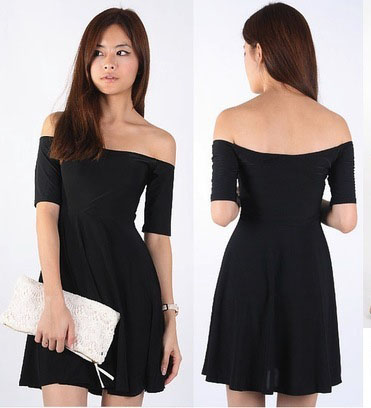 Another off shoulder dress