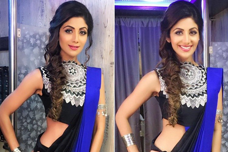 Shilpa Shetty rocking the maharani blouse