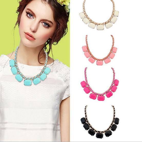 Stone statement neck piece