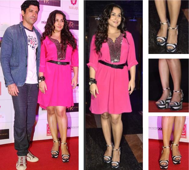 Look at Vidya's shoes