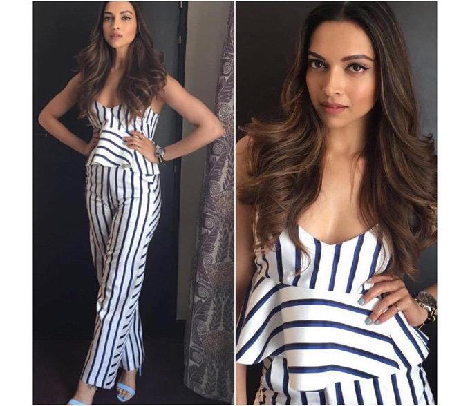 Deepika in a pantsuit