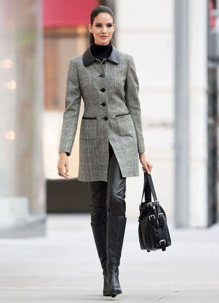 The model in overcoat.