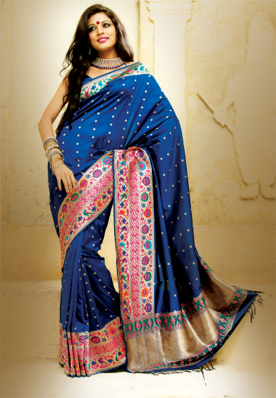 The model in Silk Saree.