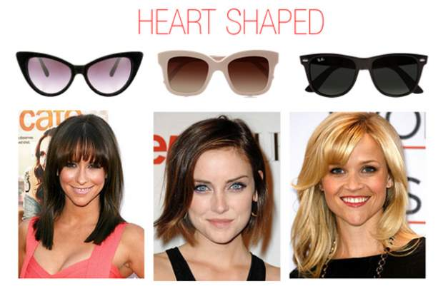 Sunglasses For Heart Shaped Face  sunglasses according to your face shape fashionpro