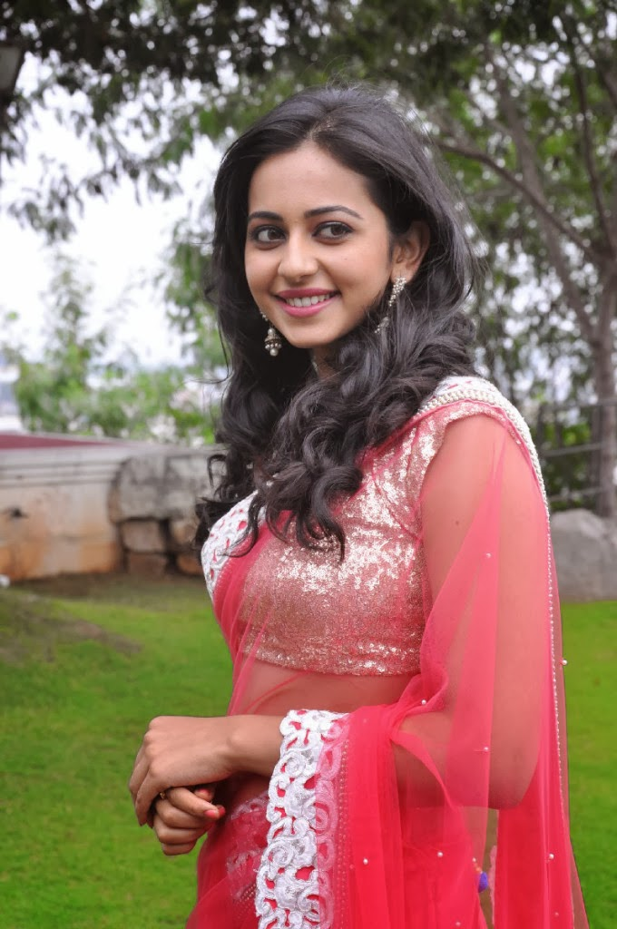 Actress Rakul Preet Singh's Formal Saree Look.