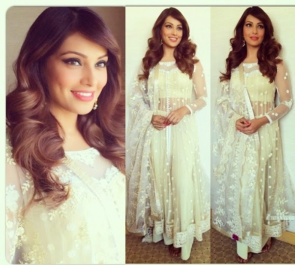 Bipasha Basu in designer Anarkali suit.