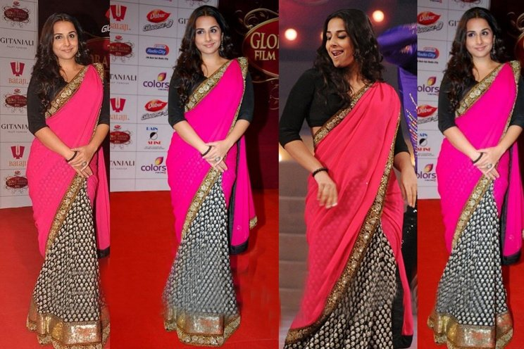 Bollywood Actress Vidya Balan's Formal Saree Look.