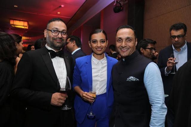 Che Kurrien with Radhika Apte and Rahul Bose