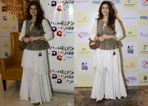Twinkle Khanna's Look