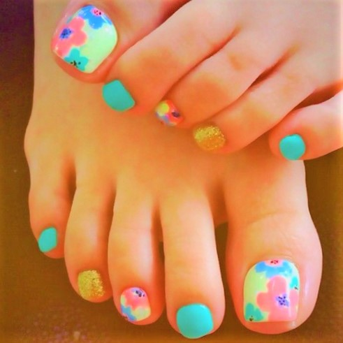 Cute Toe Nail Art