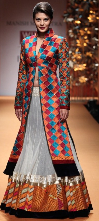 Jacket can be styled with lehenga or churidaar