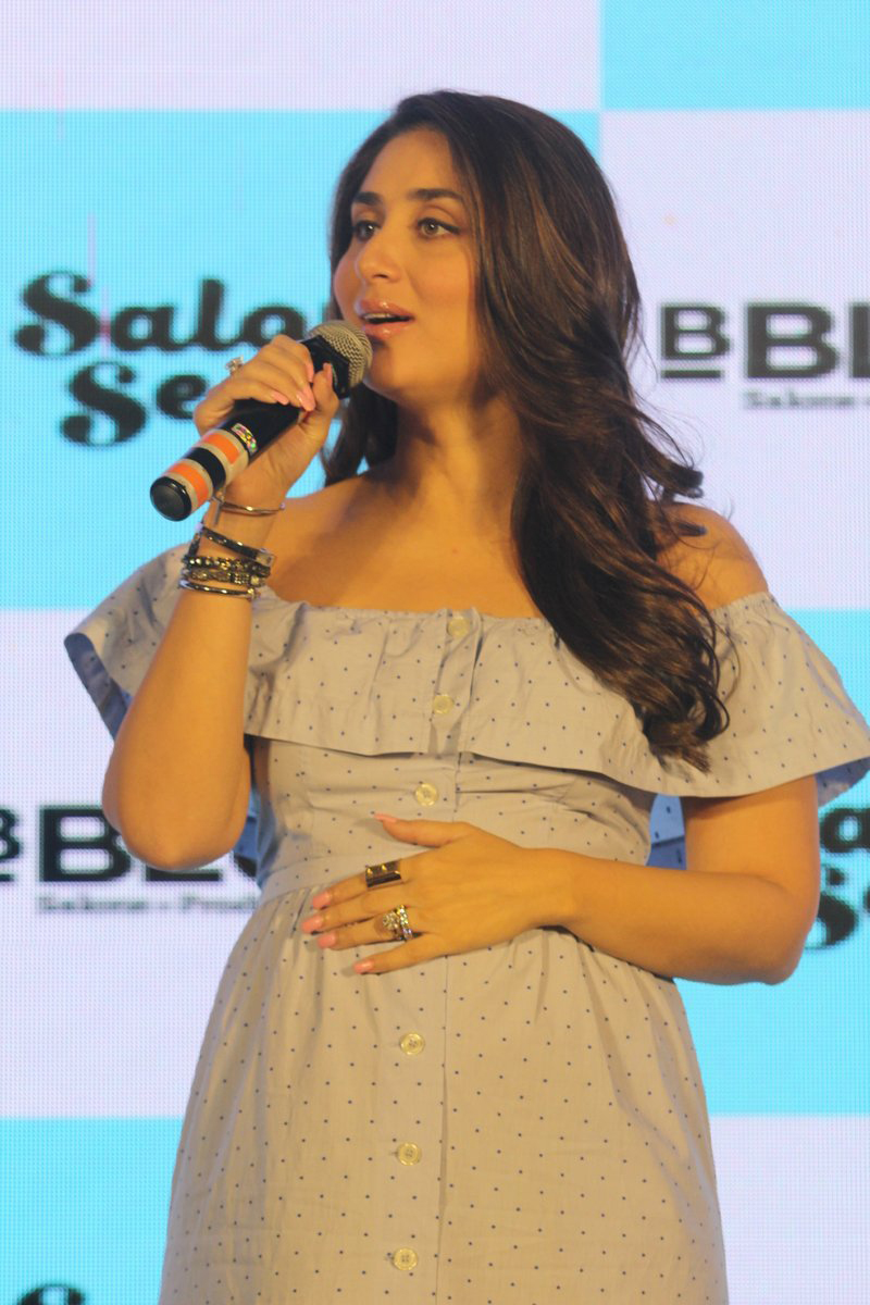 Actress Kareena Kapoor Khan wore loose dress at the launch of new B'Blunt range.