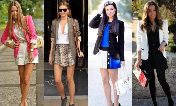 Women in Blazer Clothing Street Style.