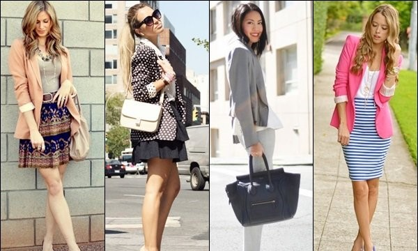 Women in Blazer Summer Office Outfits.