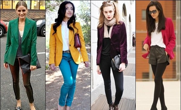 Women in Blazer in Earthy Colors.