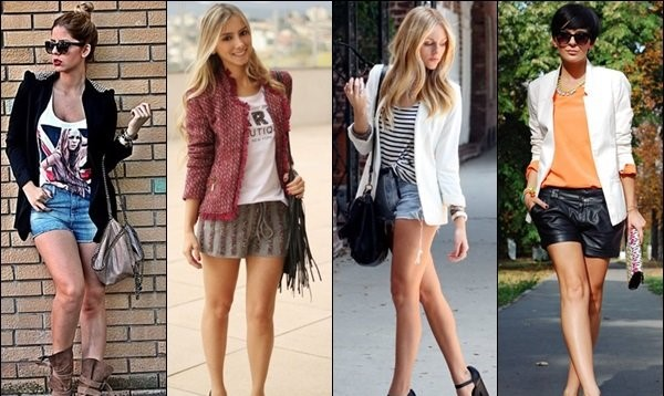 Women in Blazer With Shorts.