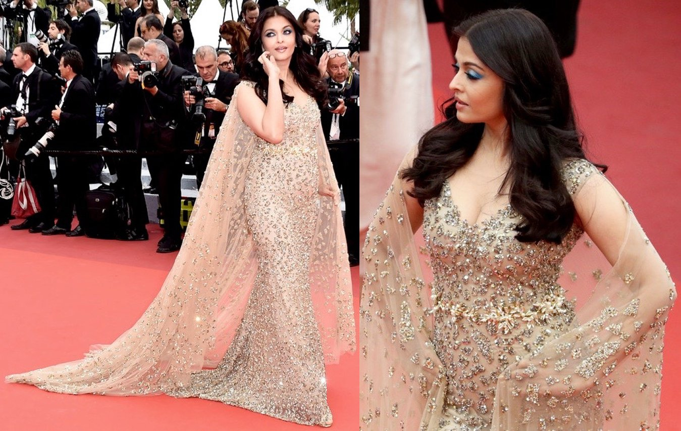 Actress Aishwarya Rai Bachchan in Cannes Festival.