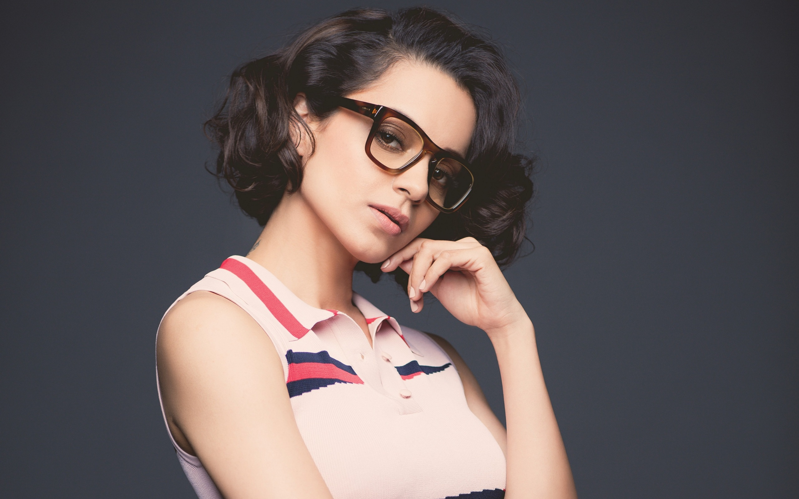 Bollywood actress Kangana Ranaut in glasses.