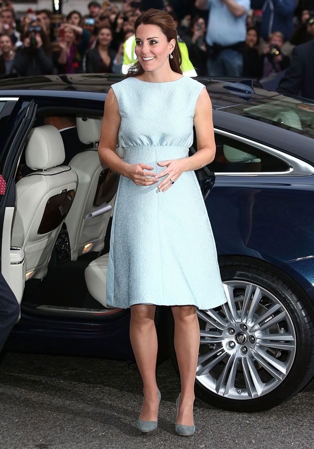 Kate Middleton wows in A-line pastel frock.