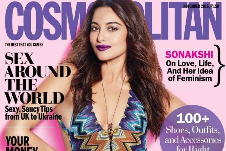 Sonakshi on the cover of Cosmopolitan magazine