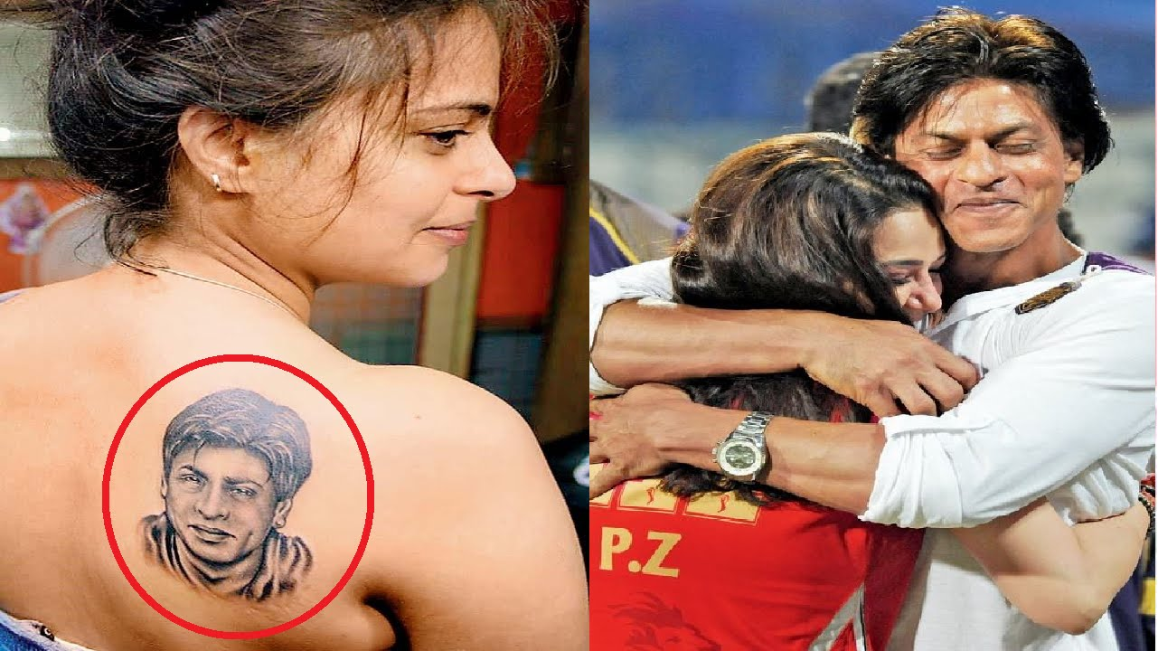 The model inked with a portrait of Shah Rukh Khan.