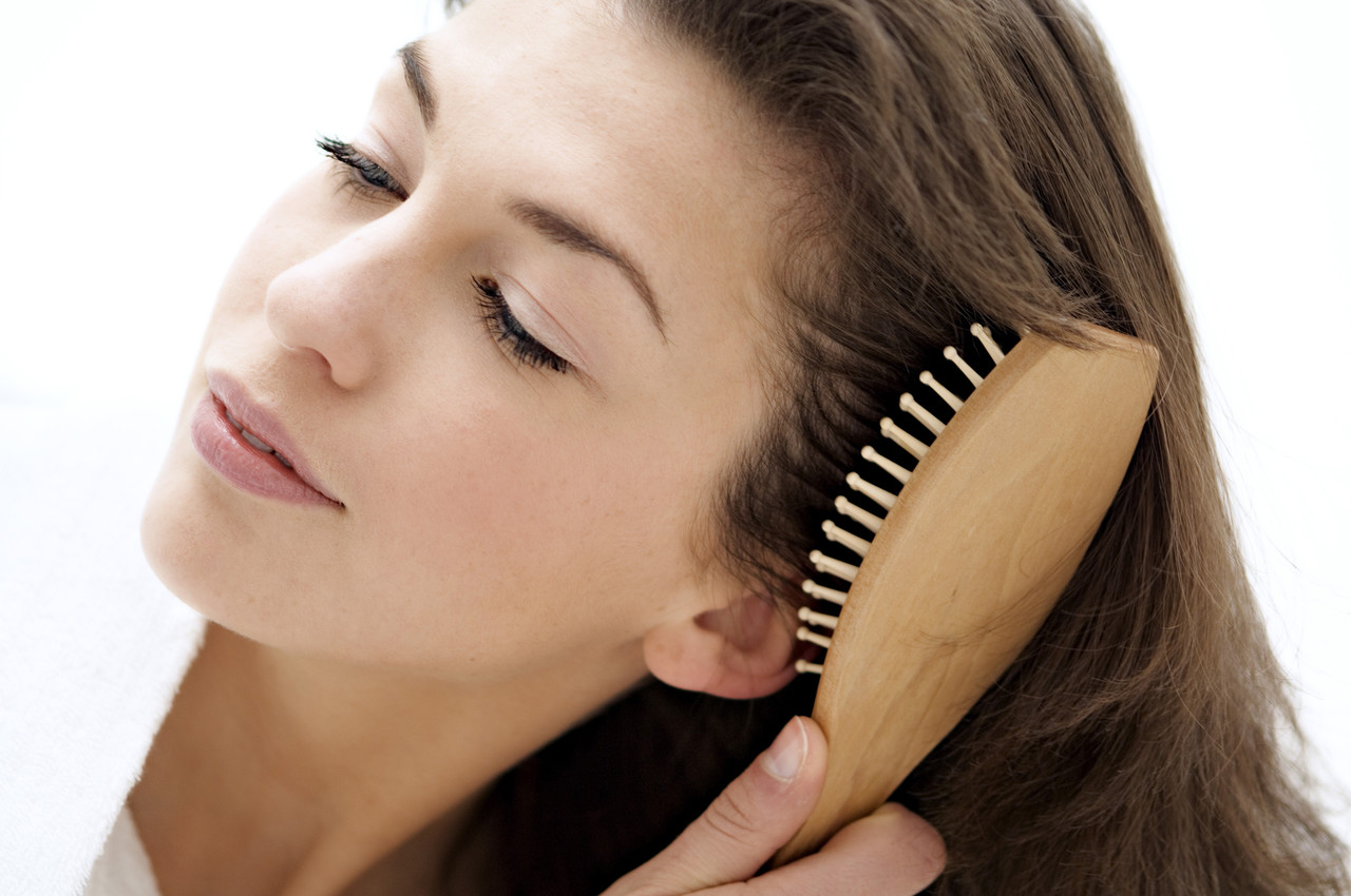 Brush your hair to remove dirt
