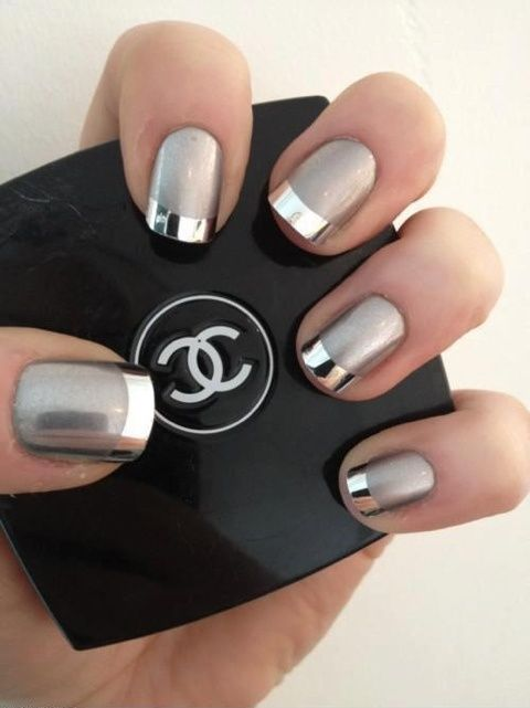 Shiny Metallic Nail Design