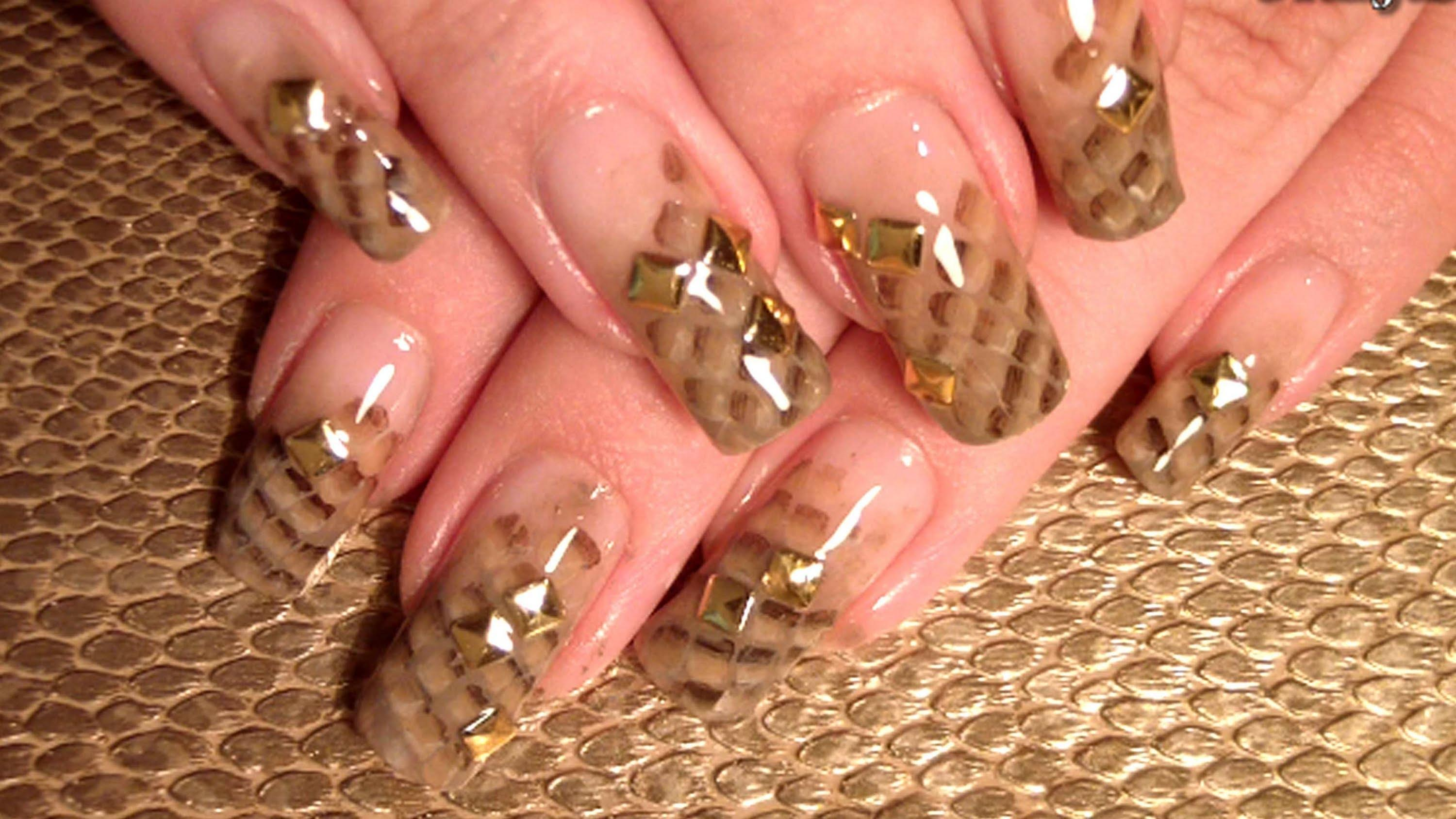 Golden Nail Design