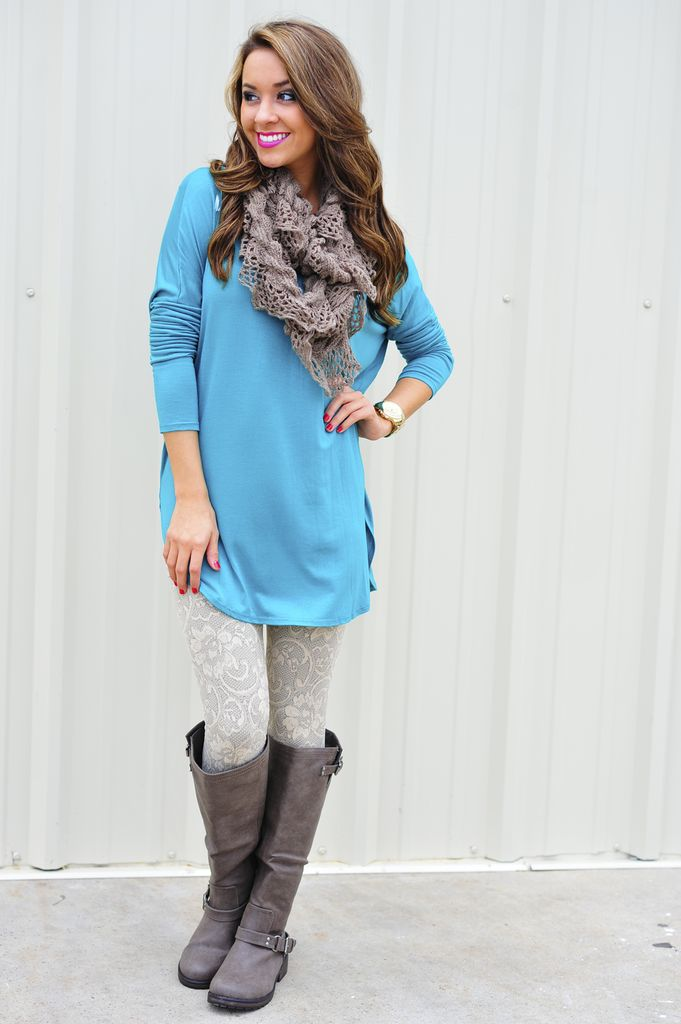Color leggings with boots